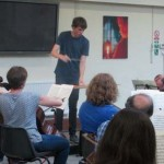 Oscar Wight, student at Guildhall School of Music, guest conducts