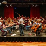 In rehearsal for our summer 2015 concert