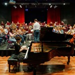 Concert rehearsal with Ivana Gavric