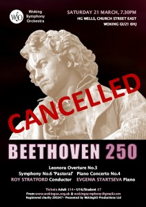 WSO concert March 20 CANCELLED